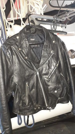 Men's medium leather riding coat for Sale in Tacoma, WA