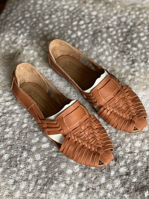 Leather Mexican Artesian weave shoes NEW for Sale in El Paso, TX