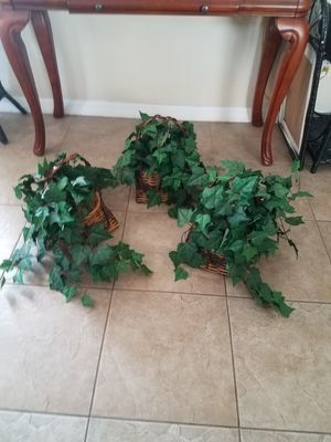 3 Fake Plants in Baskets Decor for Sale in Kissimmee, FL