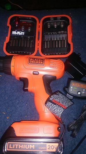 Black + Decker 20v max drill for Sale in Lake Stevens, WA