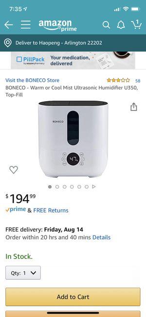 Boneco humidifier for Sale in Arlington, VA