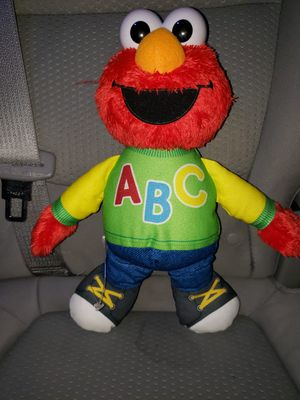 ELMO Singing ABC Sesame Street Plush Doll Hasbro Electronic Talking Toy 12 Testted and Working for Sale in Lincoln, RI