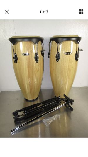 """LP Latin Percussion Cosmic CP Congas 9 & 10"""" Natural Finish w/ Stand for Sale in San Francisco, CA"""