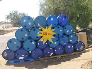 55-gallon closed-top barrels without caps food for Sale in Perris, CA