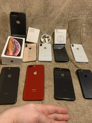 Selling iPhones 7/8plus/X/XS SPRINT or BOOST NEW or Very Good Condition (Details and Prices in Description) for Sale in Chicago, IL