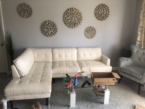 White sectional couch like new ! for Sale in Highland Beach, FL