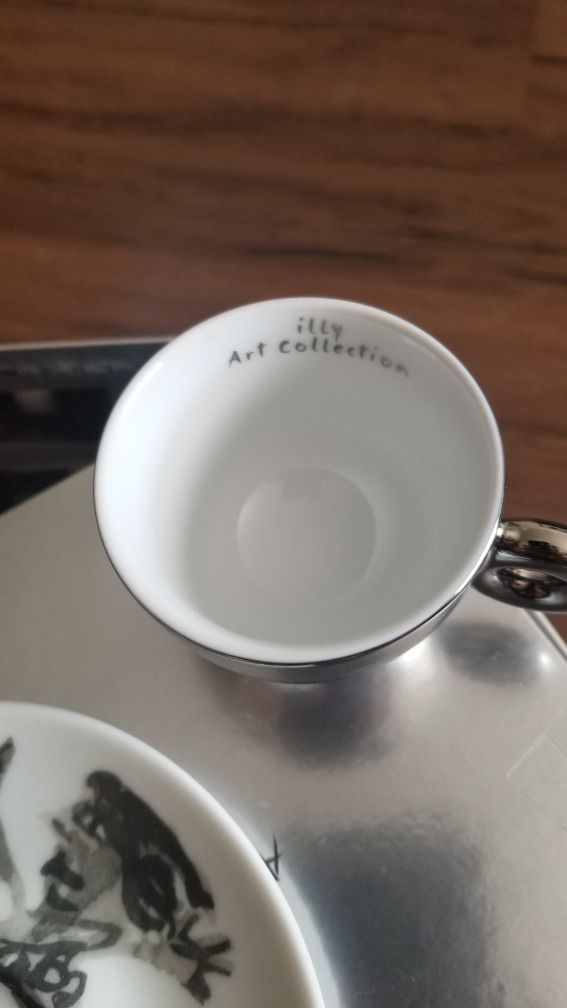 Illy art collection 2008 William Kentridge Cappuccino edition limited.