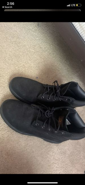 Black timberlands boots size 6 1/2 in men for Sale in Atlanta, GA