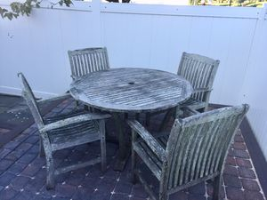 Teak Outdoor Table and Chairs for Sale in Virginia Beach, VA