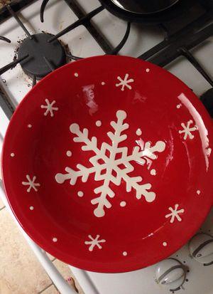 Large Ceramic Christmas serving bowl for Sale in Lemon Grove, CA