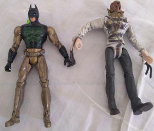 Batman Begins Action Figure Lot 2005 Mattel Batman & Scarecrow Collectible for Sale in Pasadena, CA