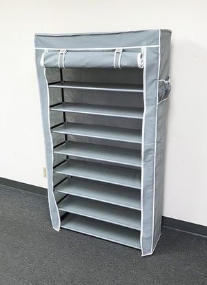 """New in box $25 each 10-Tiers 45 Shoe Rack Closet with Fabric Cover Storage Organizer Cabinet 36x12x62"""" for Sale in Whittier, CA"""
