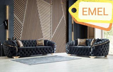 Lupino Black Velvet Sofa & Loveseat for Sale in Houston,  TX
