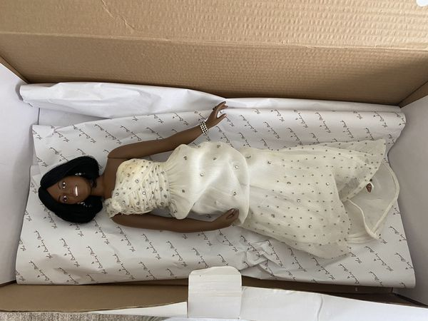 Vintage antique Michelle Obama doll