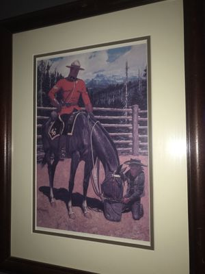 Royal Canadian Mounted Police 6 framed matted prints for Sale in Bakersfield, CA