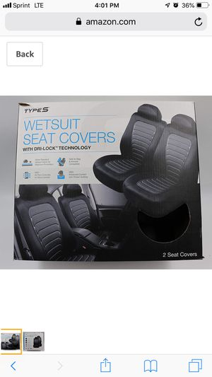 TYPE S WETSUIT SEAT COVERS TO COUNT DRYLOCK TECHNOLOGY for Sale in Dallas, TX