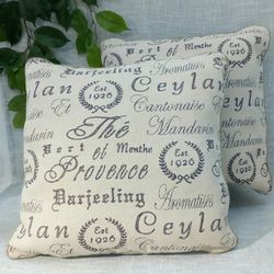 """New (set of 2) Heavy Natural Linen Pillows with French Script Design 20""""x20"""" *PICKUP ONLY* home decor, throw pillows, couch cushions, boho, farmhouse for Sale in Mesa,  AZ"""