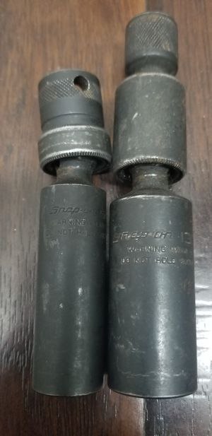 """Snap On 3/8"""" Drive 13/16"""" Double Swivel and 5/8"""" Swivel Spark Plug Impact Socket for Sale in Garden Grove, CA"""