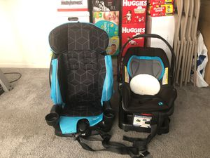 Evenflo booster seat & baby trend car seat w/ stroller for Sale in Norfolk, VA