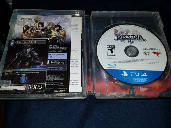 FINAL FANTASY DISSIDIA NT STEEL BOOK PS4