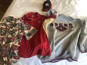 49er clothing size medium. All four pieces. for Sale in Elk Grove, CA