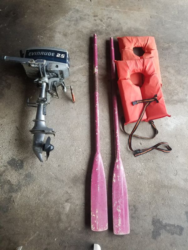 9ft  Dinghy w/ 2 5 HP evinrude  for Sale in Shelton, CT - OfferUp