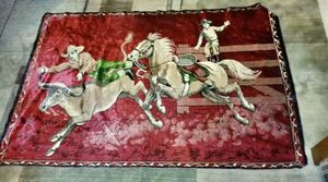 """Vintage velvet tapestry Cowboy Rodeo Wall Hanging, P&C, Italy, 70"""" x 47"""" for Sale in Seattle, WA"""