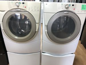 Whirlpool white front load washer and dryer set for Sale in Woodbridge, VA