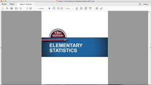 Elementary Statistics 13th Edition for Sale in El Monte, CA