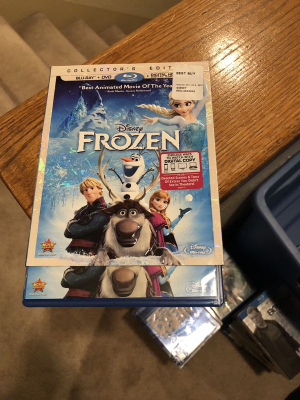 Frozen Blu Ray Movie Collectors Edition plus dvd Disney 2014 animated