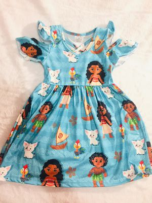 2t and 4t blue moana summer dress $15 ea for Sale in National City, CA
