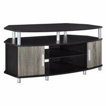 """Brand New TV Stands Ameriwood Home Carson Corner TV Stand for TVs up to 50"""" Wide, Espresso/Distressed Gray Oak. Factory sealed in box for Sale in Los Angeles, CA"""