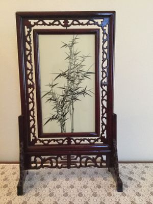 Chinese hand made silk screen embroidery art, bamboo for Sale in Bellevue, WA