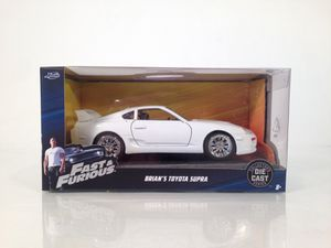 Jada Toys Fast And Furious Die Cast Collectors Series 1:32 Scale Brian's Toyota Supra • Mint for Sale in Fort Worth, TX