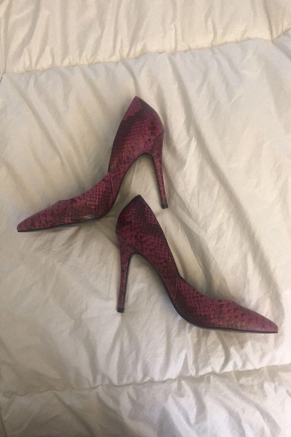 Charles David Snake Print Heels
