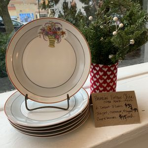 """6 Vintage Bavarian Dessert China Plates 7.5"""" Circa '20's-40's for Sale in Chicago, IL"""