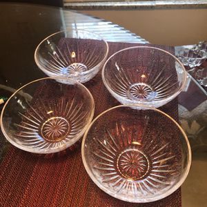 PRINCESS HOUSE HIGHLIGHTS LEAD CRYSTAL 6 SALAD BOWLS 5 5/8 for Sale in Clearwater, FL