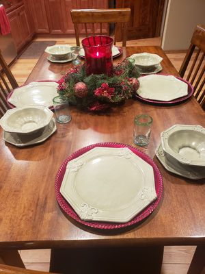 Dinnerware set and christmas decor. for Sale in Aurora, CO