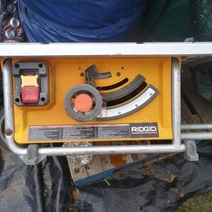 Rigid table saw 10in for Sale in Hayward, CA