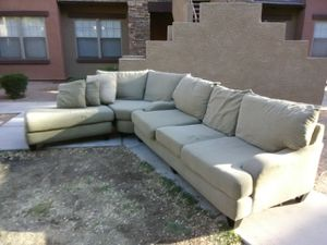 Large 3-piece sectional couch for Sale in Gilbert, AZ