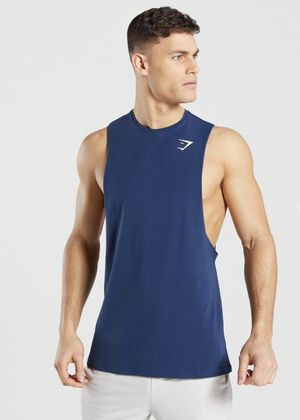 Gymshark Mens Critical Drop Armhole T-shirt Sz M Medium Eclipse Blue NEW C1 for Sale in Lynwood, CA