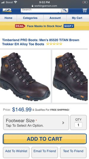 Timberland Steel Toe Pro boots Size 11 Wide for Sale in Baltimore, MD