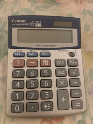 CANON basic calculator for Sale in Los Angeles, CA