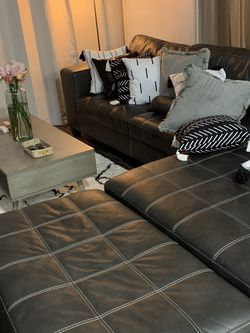 Black Leather Sectional for Sale in Plano,  TX