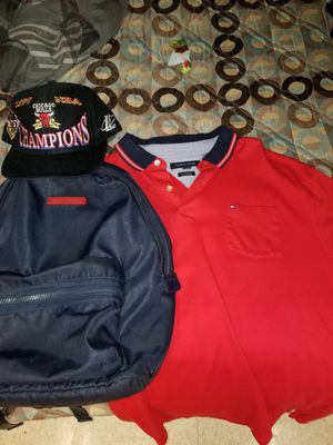 Tommy Hilfiger backpack and shirt for Sale in Phoenix, AZ