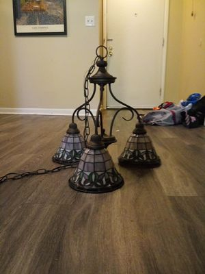 Stained glass 3 light chandelier for Sale in Columbus, OH