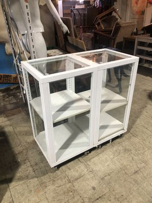 Glass display with shelves for Sale in St. Louis, MO