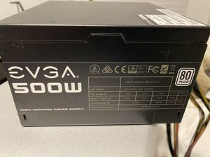 Evga 500w 80 Plus Power Supply for Sale in Caldwell, ID