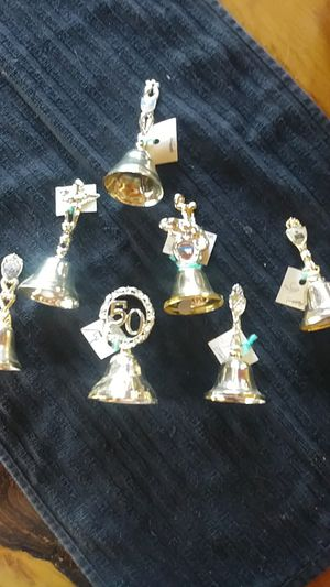 Set of 7 Golen Bells. Different Parks for Sale in Payson, AZ