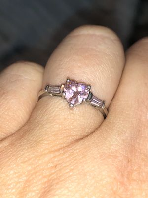 Pink Stone on Sterling Silver size 7 for Sale in Norfolk, VA